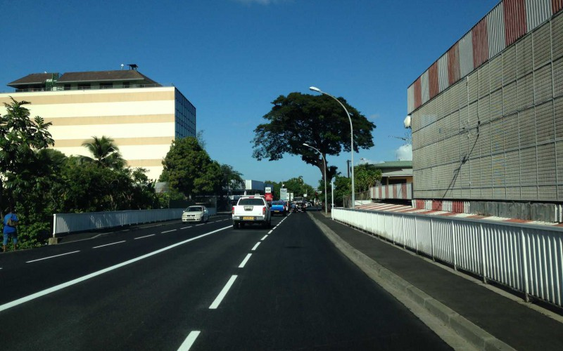 Apres aménagement routiers - 2x2 voies - Carrefour Titioro Bernière
